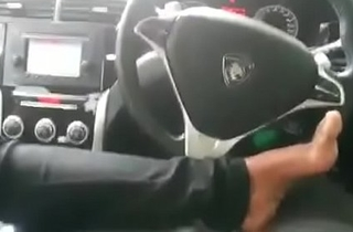 Indian girl hard blowjob his tweak in car