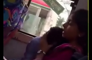 Bangladeshi bf with an increment of girlfriend surrounding local Bus
