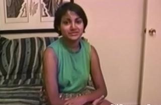 Indian amateur in vintage porno deep throats cock