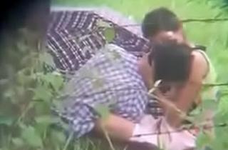 Indian teen having sex outdoor