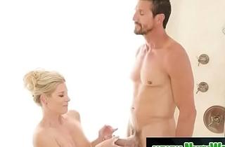 Milf masseuse India Summer gives a nuru handjob massage