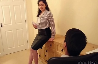 Desi bhabhi blackmailed and forced to have sex with her big wheel hindi audio bollywood amateur sextape POV Indian