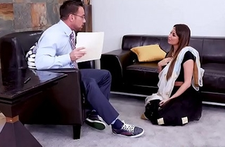Hawt Indian MILF Anissa Kate went to a sex counselor to enquire after some help with sex issues, the horny conselor cant thumb one's nose at but to fuck her pussy.