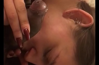 White widely applicable deep throats indian dick and drinking cum PART1