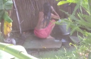 Indian Randi Chachi Ablution