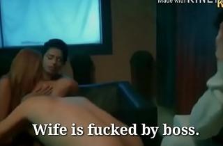 पत्नी ने पति के सामने बॉस के साथ चोदा सेक्स